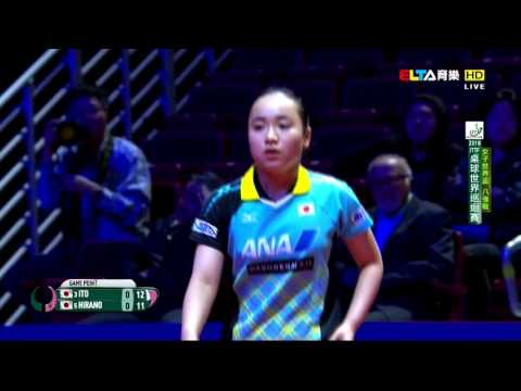 2016 Women's World Cup (QF2) HIRANO Miu - ITO Mima [Full Mat
