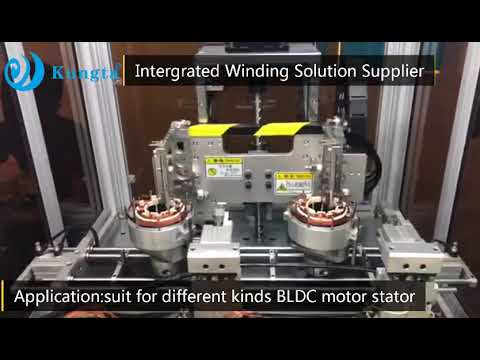 Automatic Double Station BLDC Motor Stator Winding Machine