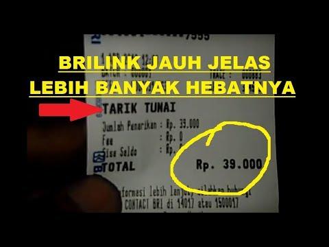HEBATTT...BRILINK BISA TARIK TUNAI Rp. 39.000