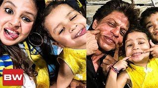VIRAL: Shahrukh Khan & Dhoni Daughter Ziva Bond Together During CSK VS KKR Match
