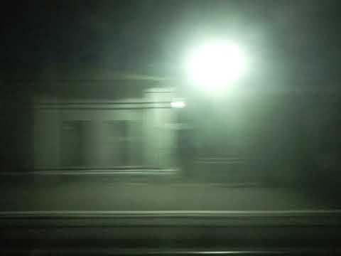 Осенний Вечер Рязанской и Тамбовской области вид с окна вагона поезда
