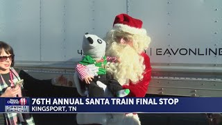 76th annual Santa Train arrives in Kingsport