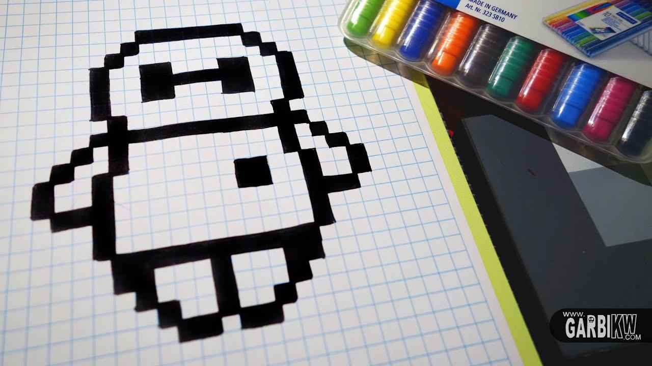 Handmade Pixel Art , How To Draw BayMax from Big Hero 6 pixelart , YouTube