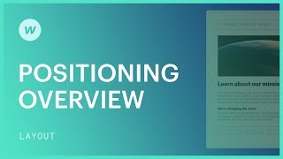 Positioning for beginners (relative, absolute, fixed) - Webflow CSS tutorial