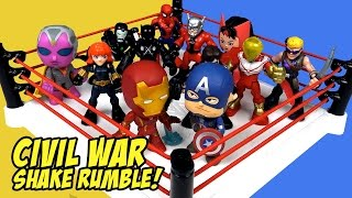 Captain America vs Iron Man Civil War Movie Shake Rumble with Avengers Toys & Spiderman Toys