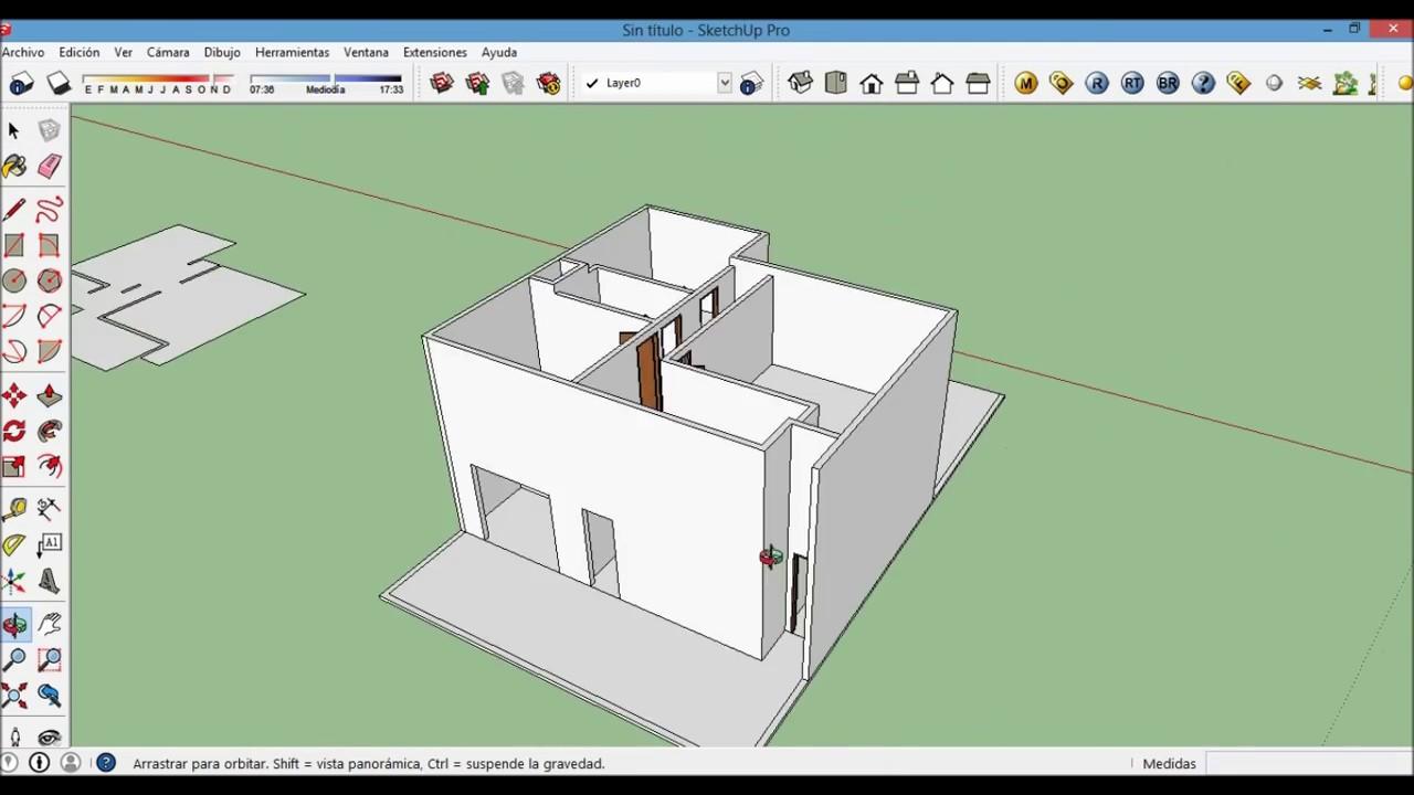 Casa moderna en sketchup parte 1 youtube for Casa moderna sketchup download