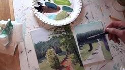 10-Minuten-Malerei: Weg am Waldrand
