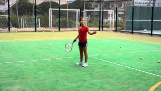 20100926 M Playing Tennis Two Forehands