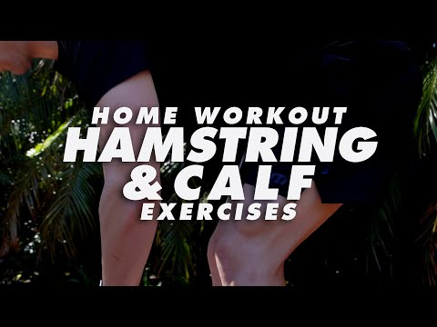 At Home Hamstring & Calf Workout Exercises | In The House With Team MassiveJoes