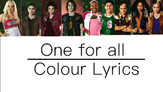 Baixar | One for all | Colour Lyrics | (Zombies 2) |