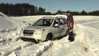 SJ Subaru  Forester test in sand quarry