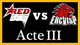 1/4 de finale, Acte III - HC Red Ice-EHC Visp 3-4