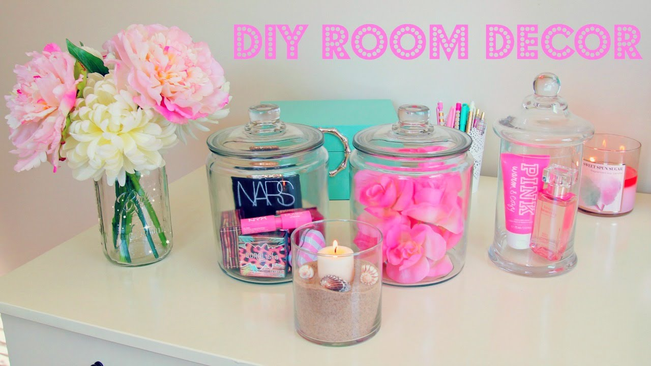 Bedroom Decor Homemade diy room decor ~ inexpensive room decor ideas using jars - youtube