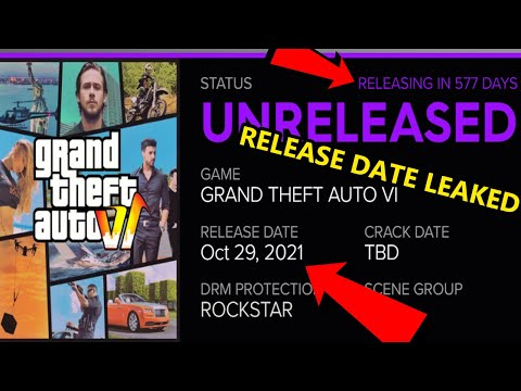 GTA 6 News - Potential Release Date Leaked (2021)