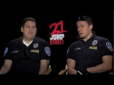 Channing Tatum and Jonah Hill play dress-up for their '21 Jump Street' interview