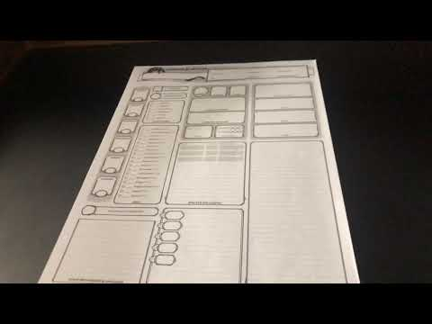 Basic Dungeons and Dragons 5e character sheet