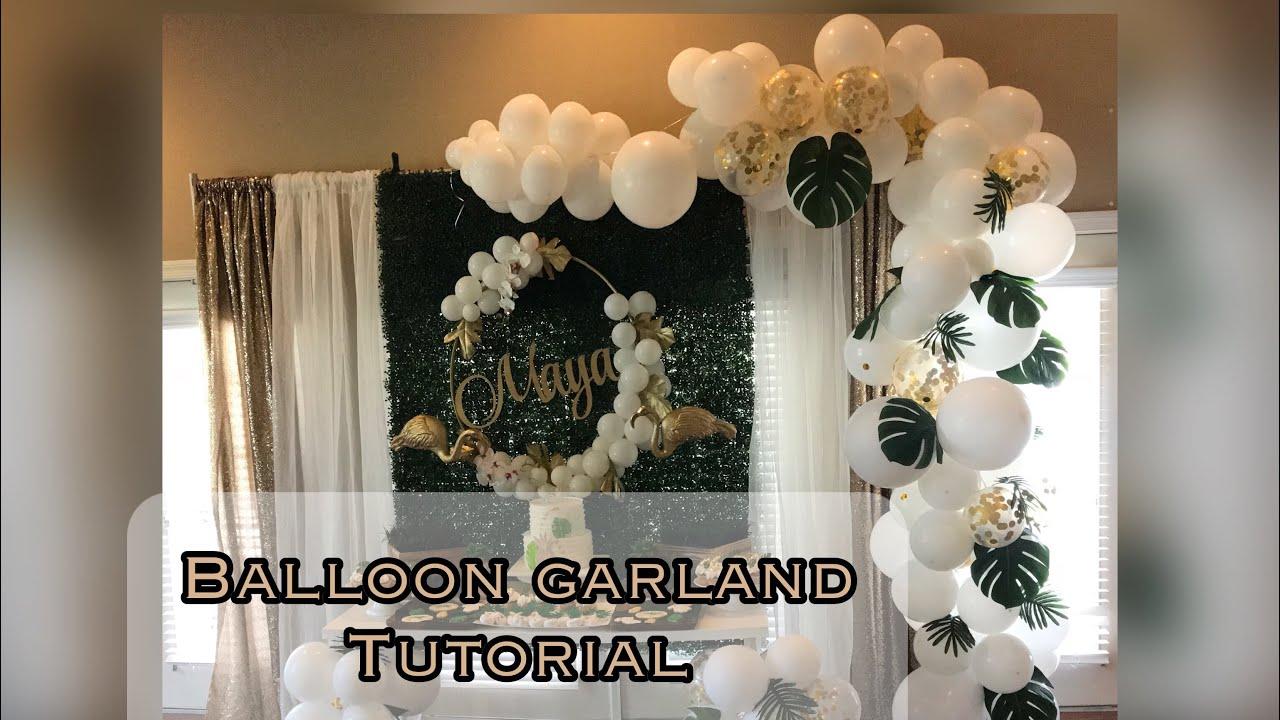 DIY Organic Balloon Garland Tutorial  YouTube