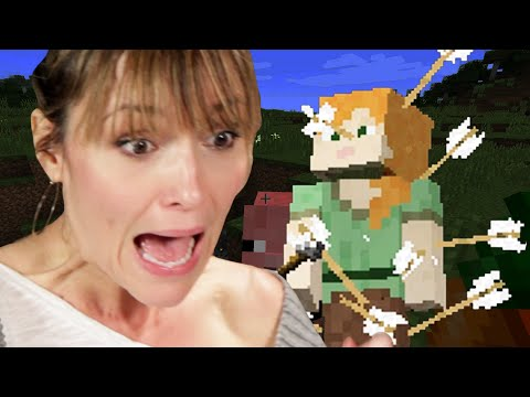 Moms Play Minecraft For The First Time