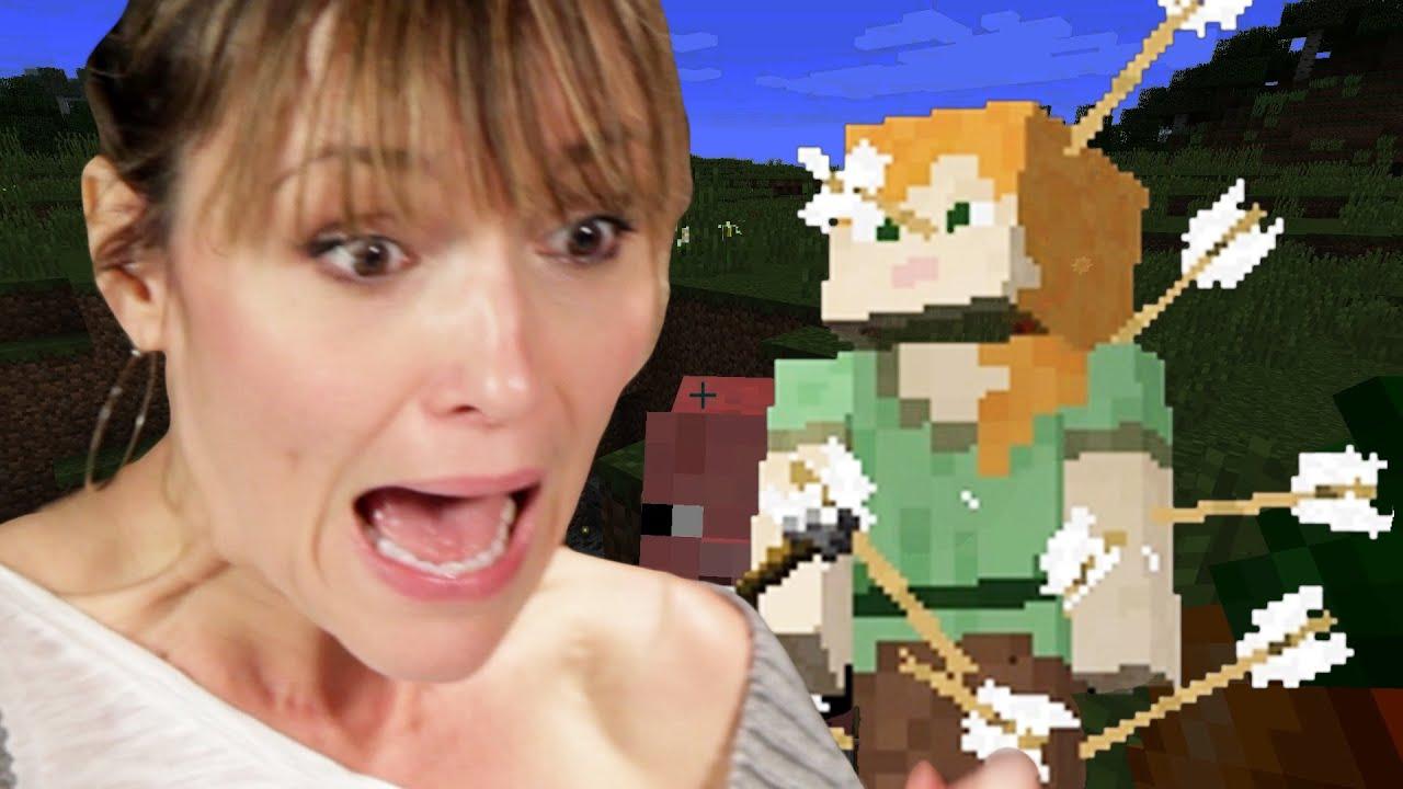 Las madres jugar Minecraft para la primera vez