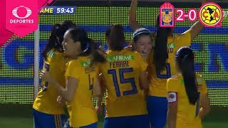 Resumen | Tigres 2 - 0 América | CL 2019 - Semifinal - Liga Mx Femenil | Televisa Deportes