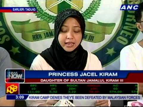 Princess Jaycel Kiram has just read a letter from her father, Sultan Jamalul Kiram
