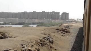 قطار خط المرج/شبين القناطر أثناء مروره على بحيرة عرب العليقات