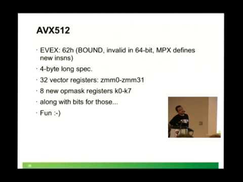 Borislav Petkov: x86 instruction encoding and the nasty hacks we do in the kernel