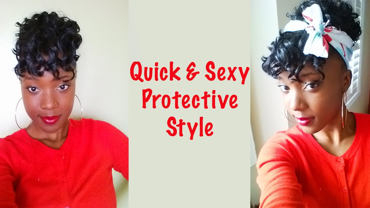 Natural Hair How To Quick Easy And Sexy Protective Style On