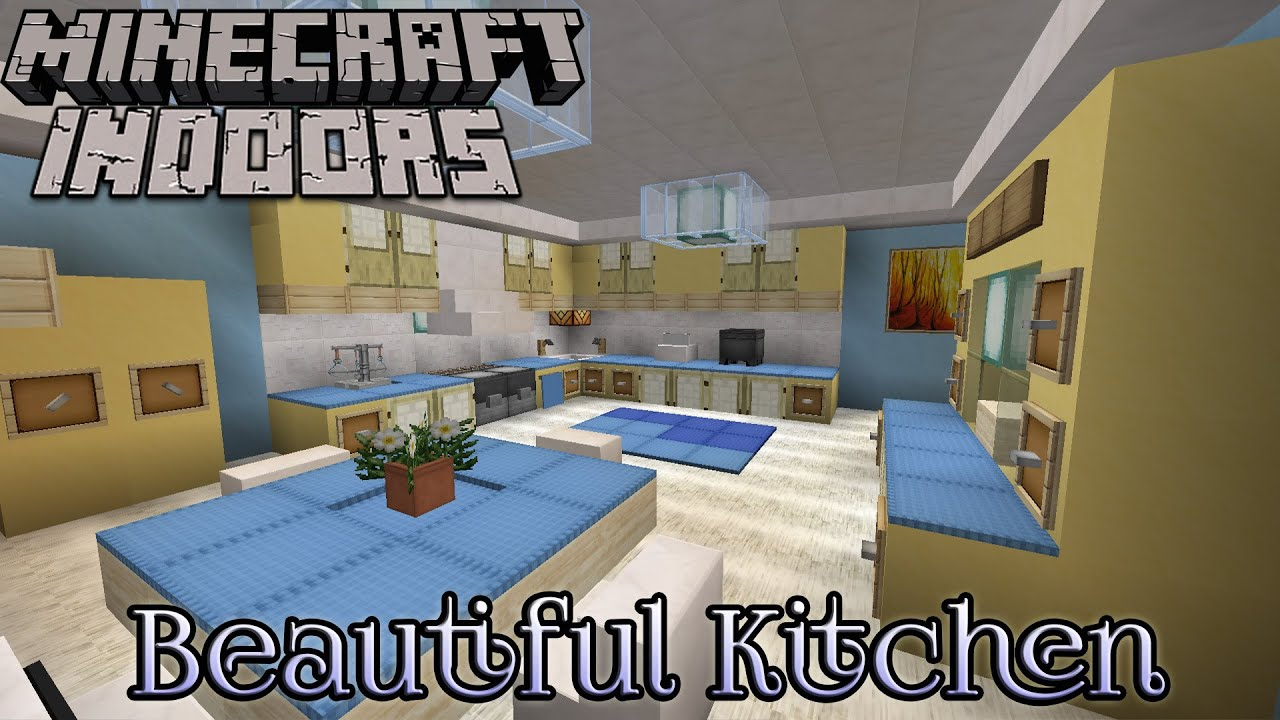 Minecraft indoors interior design beautiful kitchen for Minecraft house interior living room