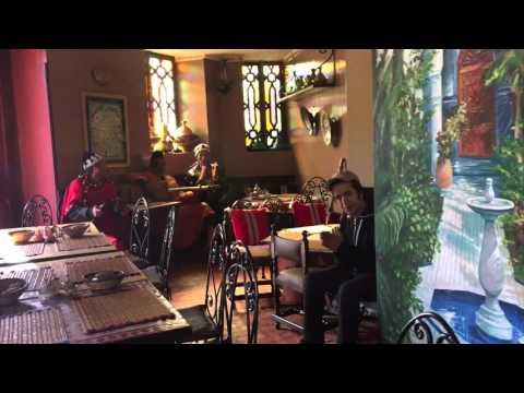 Traditional musicians in a Moroccan restaurant in Casablanca