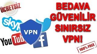 SINIRSIZ, GÜVENİLİR, BEDAVA VPN! Yasaklı Sitelere Giriş!