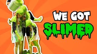 Trick shots!! And WE GET SLIMED // Sports Challenges from Bratayley