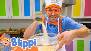Baking With Blippi | Food Videos For Kids | Educational Videos For Toddlers