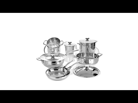 Wolfgang Puck Bistro Elite 14piece Stainless Cookware Set