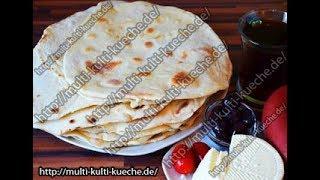 Türkisches Lavash Brot | Fladenbrot Pfanne | Dünnes Fladenbrot | Pfannenbrot