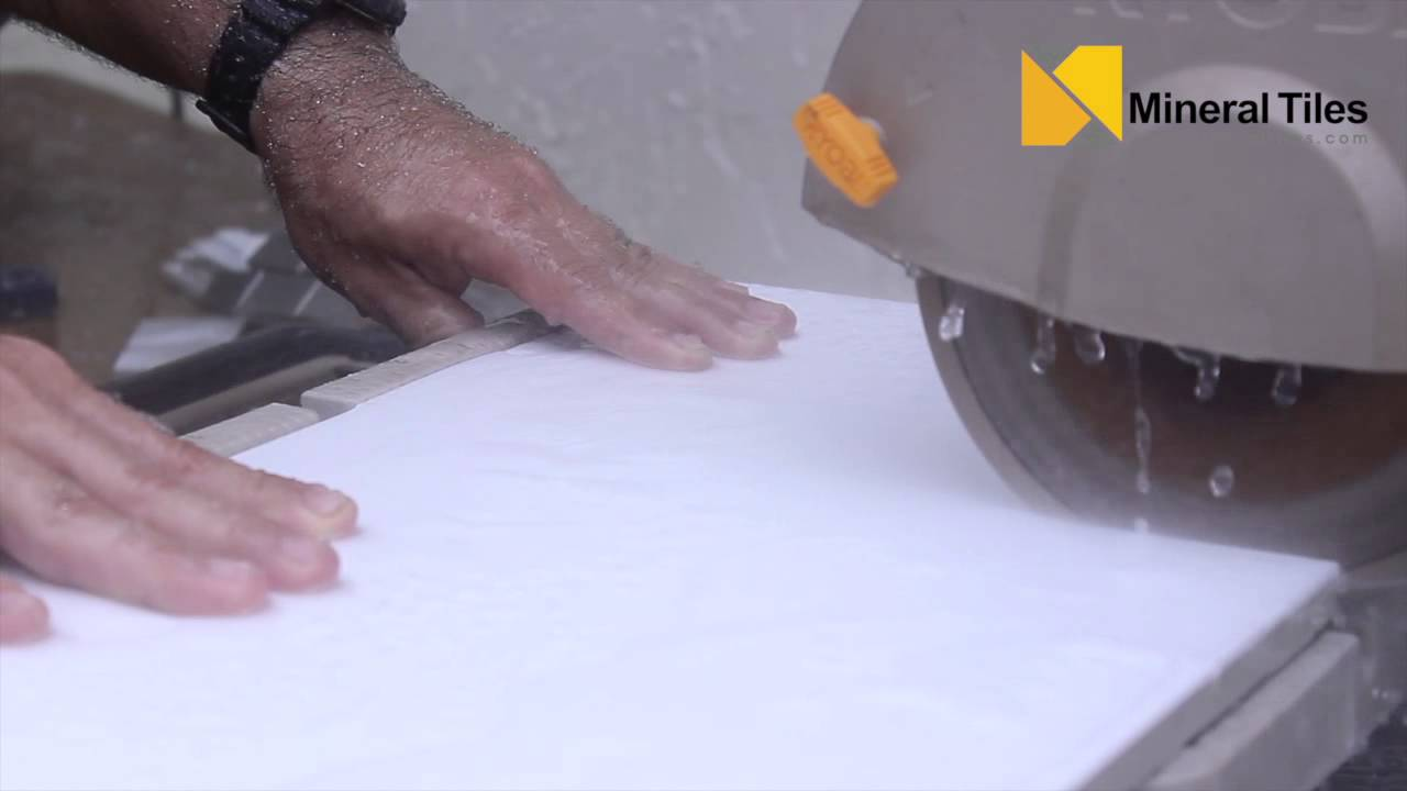 How to Cut Milk Glass Tile - YouTube