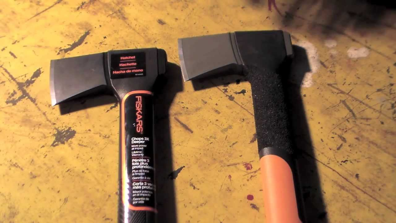 new fiskars hatchet x7 comparison youtube. Black Bedroom Furniture Sets. Home Design Ideas