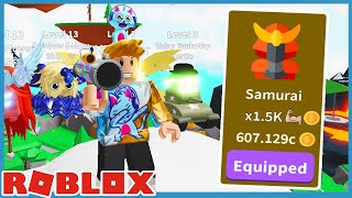 Buying The Expensive Saber & New Samurai Class in Roblox Saber Simulator