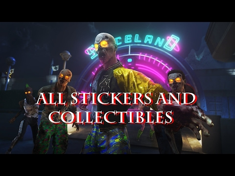 Zombies In Spaceland | ALL STICKERS/COLLECTIBLES (Commentary) (Call of Duty Infinite Warfare)