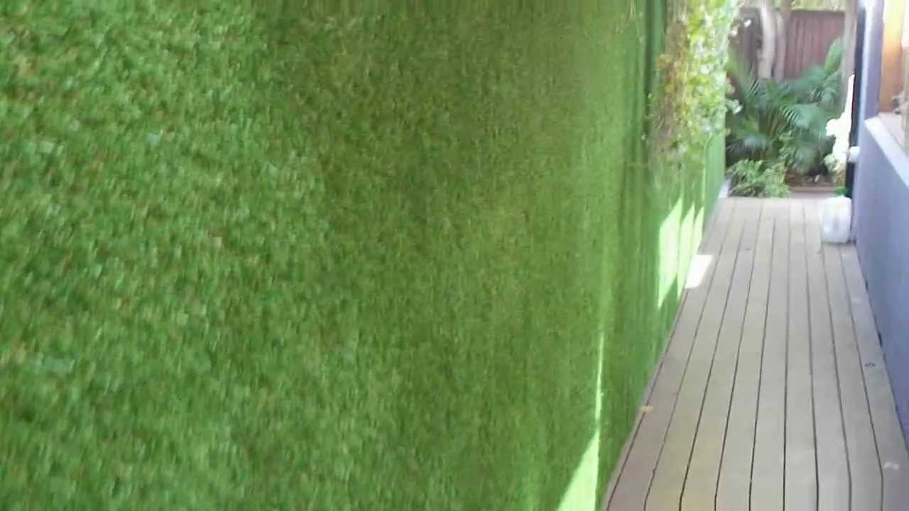 Vertigrass Modular Synthetic Grass System Installed On