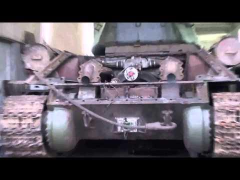Т 34 Холодный запуск двигателя