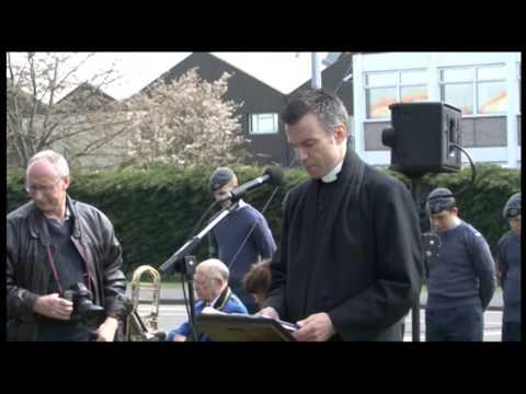 Lancaster Crew Memorial Unveiling Ceremony Colchester Essex U.K.  25th April 2013