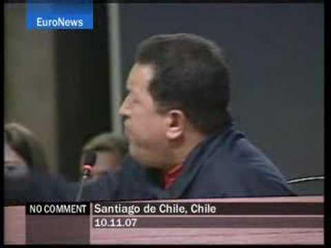 "King Juan Carlos to Chávez: ""Shut up"" - No Comment"