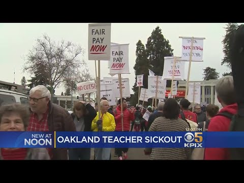 Oakland Teachers And Staff Participate In 'Sick Out'
