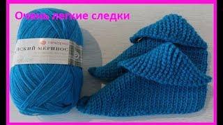 Очень легкие следки,вязание крючком ,легкое  крючком, crochet slippers( С № 19)
