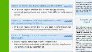 Schulung zum Bundesdatenschutzgesetz auf BDSG-Wissen.de