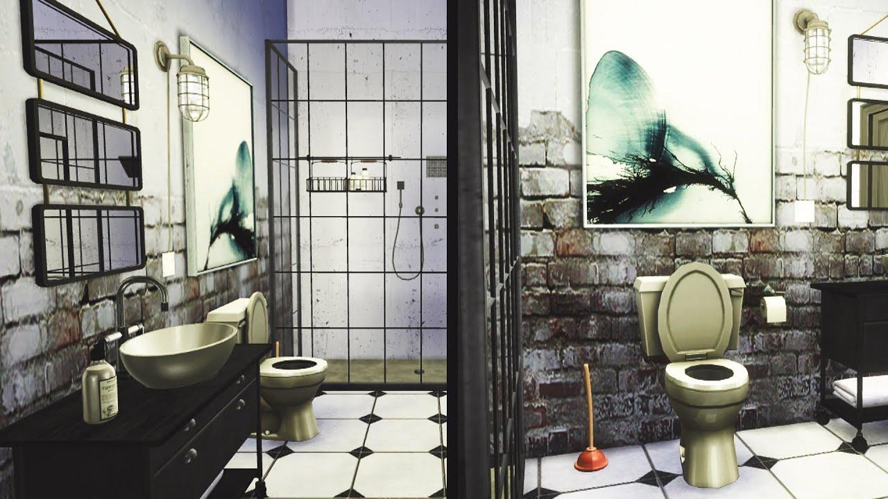 the sims 4 industrial bathroom - Industrial Bathroom