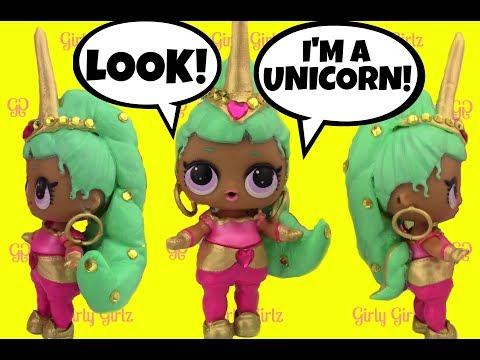 LOL Surprise Doll  GENIE UNICORN CUSTOM + Doll Story Video by Girly Girlz