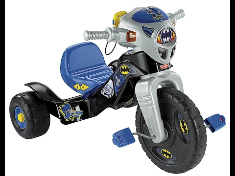 Fisher-Price Nickelodeon Batman Lights & Sounds Trike- Kids Bike Video
