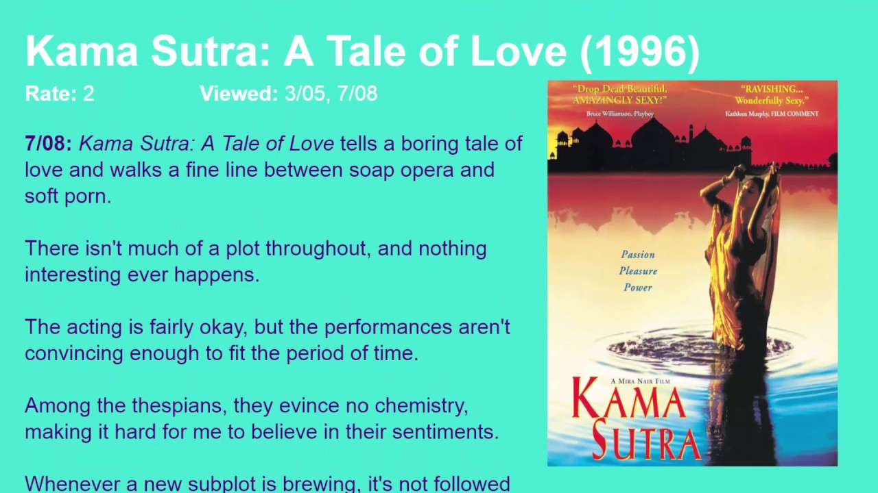 movie review kama sutra a tale of love 1996 hd youtube